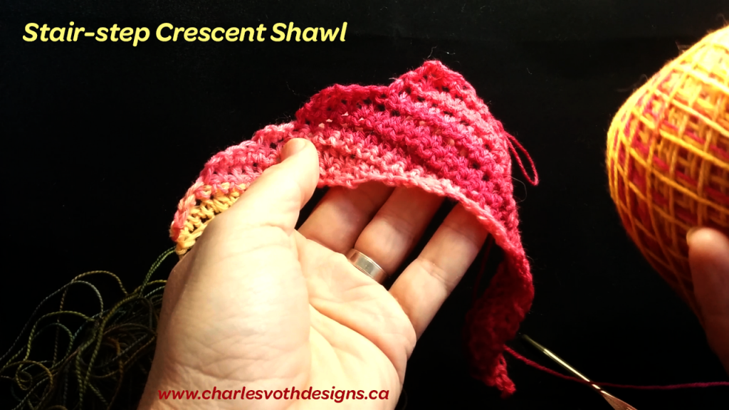 Video tutorial on how to crochet crescent shawl